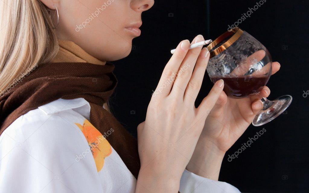 Čína dívka kouření