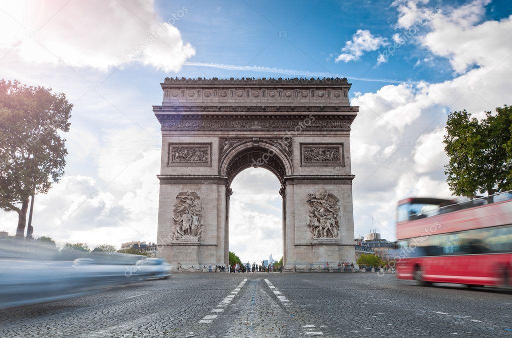 Triumphal arch in Paris.