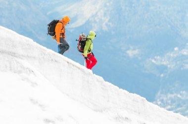 Two mountaineers on hike