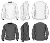 Šablona návrhu s tričko Pánské v-neck dlouhý rukáv