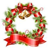 Photo Vector christmas wreath