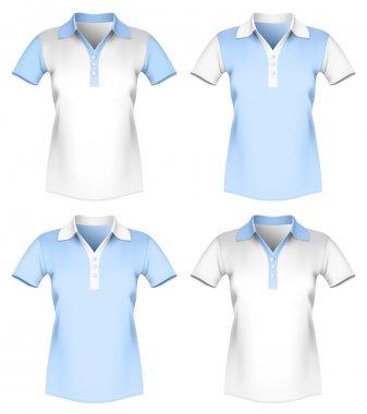 Vector illustration of women polo shirt template.