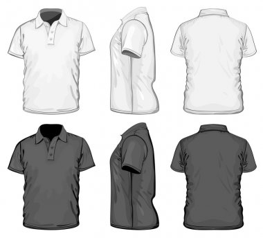 Men's polo-shirt design template.