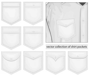 Vector collection of shirt pockets stock vector