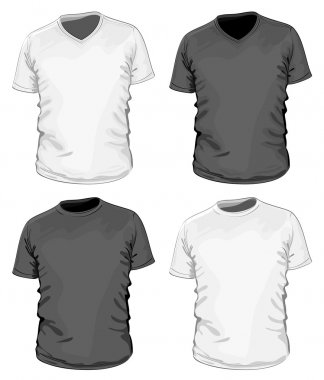 Men's black and white t-shirt