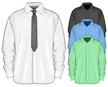 Color dress shirt. Front view
