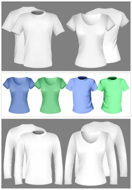 T-shirt design template (men and women)