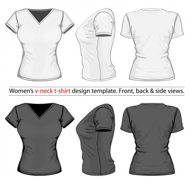 Women's polo-shirt design template