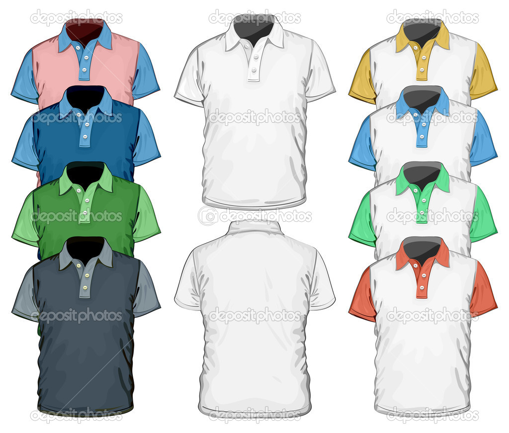 Polo shirt design vector - Men S Polo Shirt Design Template Vector By Ivelly