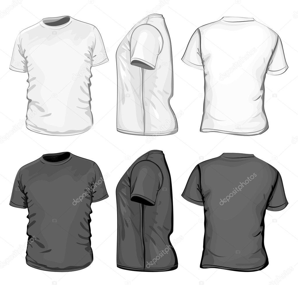 Shirt design illustrator template - Men S Polo Shirt Design Template Stock Vector 11521339