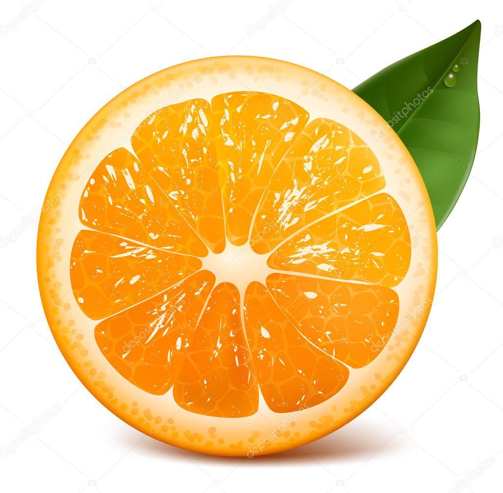 Fresh ripe orange