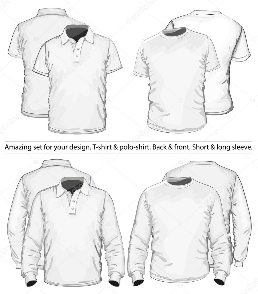 Polo shirt and t shirt design template stock vector for Stock t shirt designs