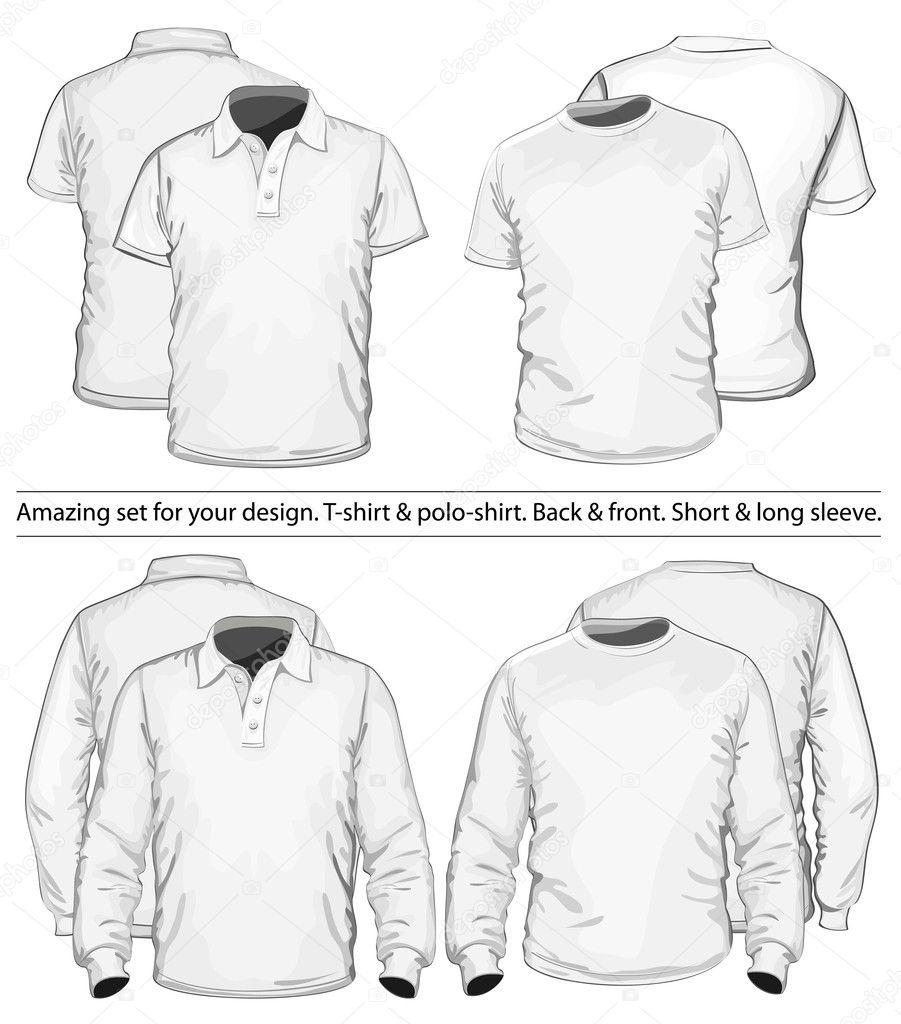 Shirt design illustrator template - Polo Shirt And T Shirt Design Template Stock Vector 11521694