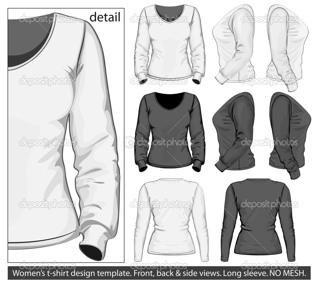 Polo shirt design vector - Women S Polo Shirt Design Template Front Back And Side View Vector