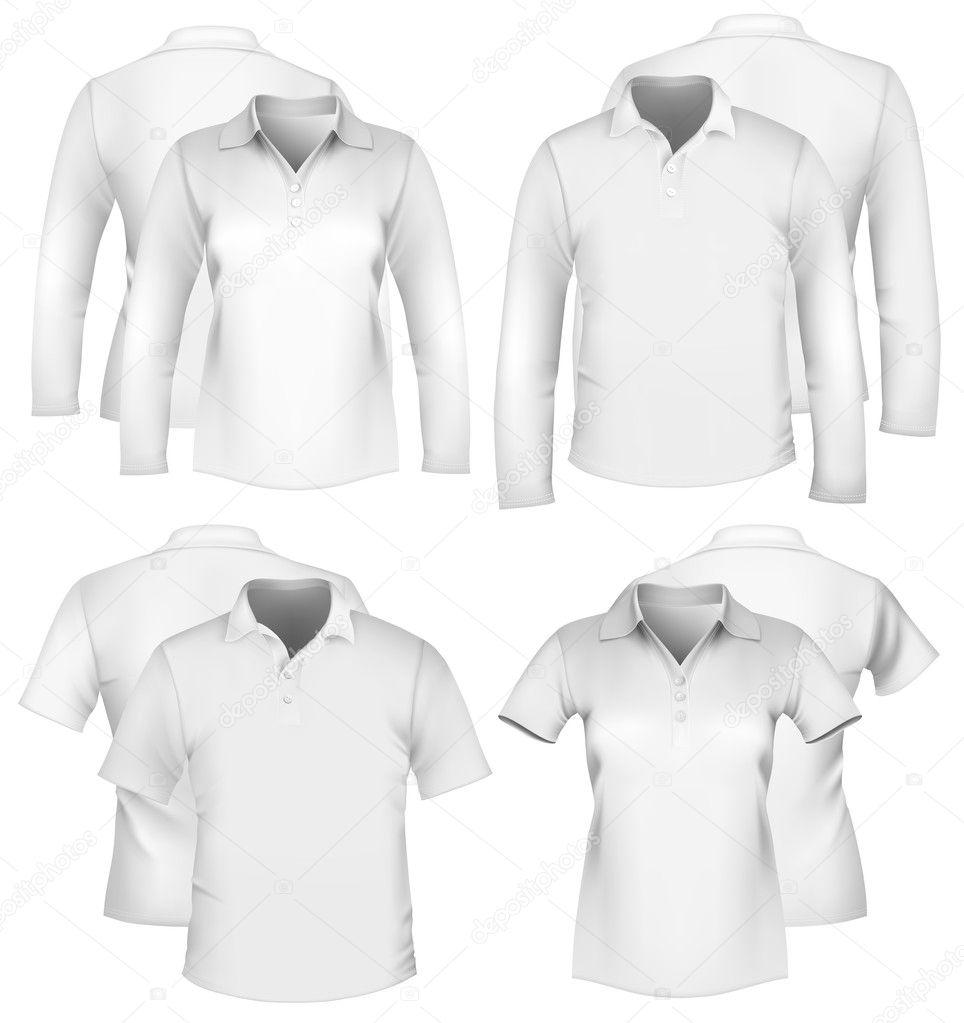 Διάνυσμα. των ανδρών και των γυναικών πουκάμισο πρότυπα σχεδίασης —  Διάνυσμα με ivelly be12082556c
