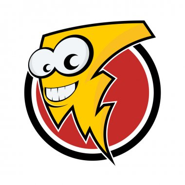 Funny cartoon lightning