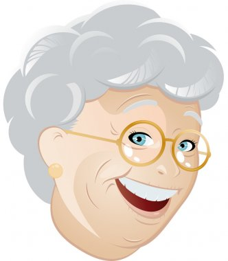 Funny cartoon grandmother