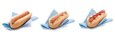 Hot Dog Sausages In Napkins
