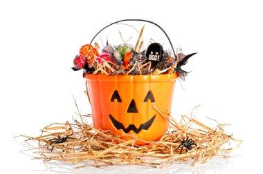 Candie Filled Halloween Bucket