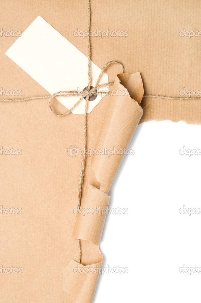 Open Parcel With Label