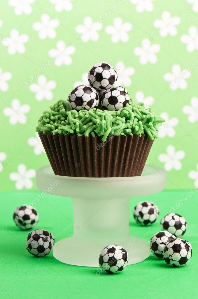 De Cake Van De Verjaardag Van De Voetbal Stockfoto C Springfield