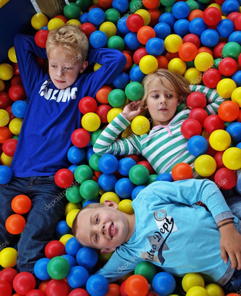 Children in fun balls