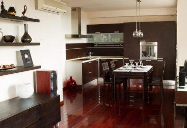 Contemporary interior style in apartment