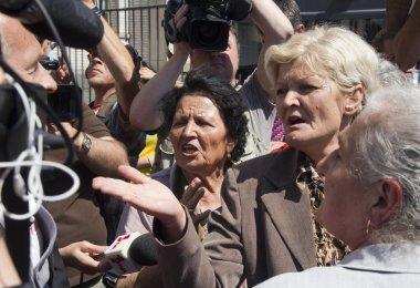 Emotie tijdens het Mladic proces