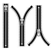 zip černé symboly