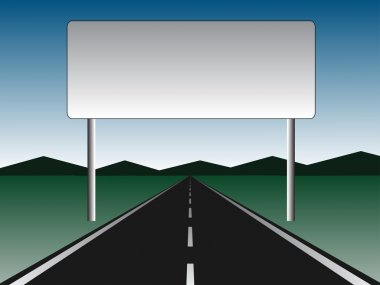 empty road - empty billboard