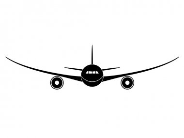 Aircraft - illustration for the web stock vector