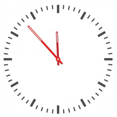 Clock face - easy change time - illustration for the web stock vector