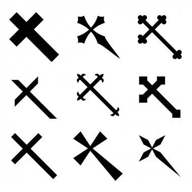 Christian crosses - illustration for the web stock vector