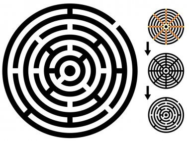 maze - easy change maze - change color any piece
