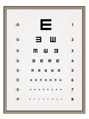 Snellen eye test chart - illustration for the web stock vector