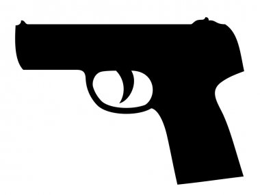 Gun silhouette - illustration for the web stock vector