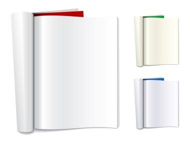 blank folded magazines