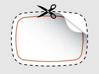 scissors cutting sticker
