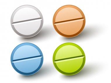 stylish colored pills