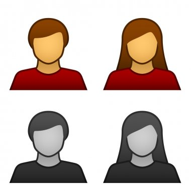 male female avatar icons