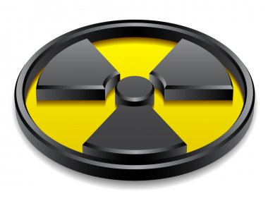 3d shiny radiation symbol