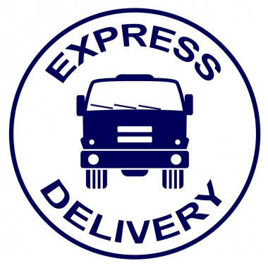 express delivery stamp - truck silhouette
