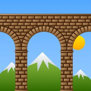 ancient stone bridge viaduct aqueduct