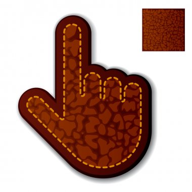 leather click hand cursor