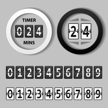 countdown round mechanical timer