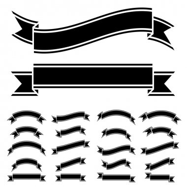 black and white ribbon symbols
