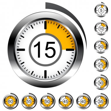 chrome round timers