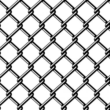 wire fence seamless black silhouette