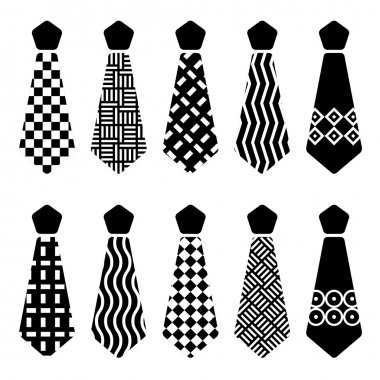 tie black silhouettes