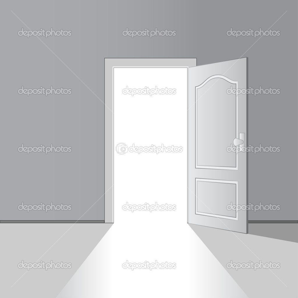 Opened door - illustration for the web u2014 Vector by happyroman & opened door u2014 Stock Vector © happyroman #11493153 pezcame.com